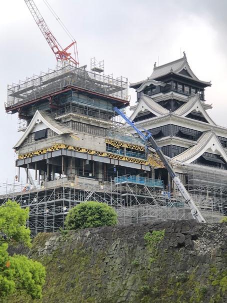 熊本城を訪れて